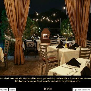 A photo of Agio Italian Bistro restaurant
