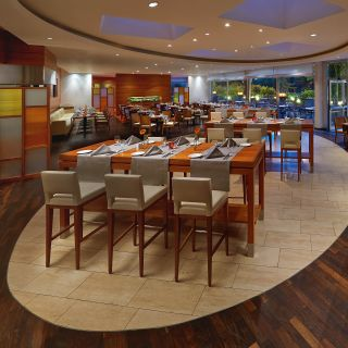 A photo of Hilton Düsseldorf Restaurant Max restaurant