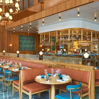 A photo of Aquavit London restaurant