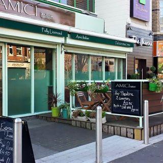 A photo of Amici Belfast restaurant