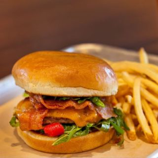 A photo of Burger Theory - Holiday Inn & Suites Calgary Airport North restaurant
