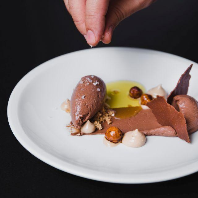 Dark chocolate, hazelnut, olive oil, salt - Pica Pica, Central Hong Kong Island, Hong Kong
