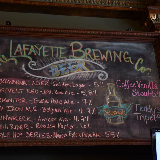 Beer Board - Lafayette Brewing Company, Buffalo, NY