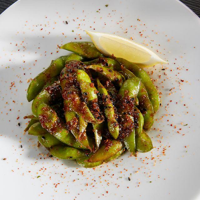 Garlic Edamame - RA Sushi Bar Restaurant - Pembroke Pines, Pembroke Pines, FL
