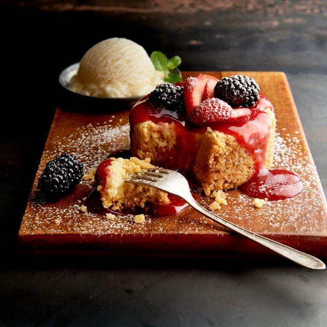 Berry Butter Cake - Claim Jumper - Costa Mesa, Costa Mesa, CA