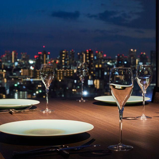 SKY TREE VIEW RESTAURANT REN (SUMIBIYAKI Steak) - Tobu Hotel Levant Tokyo, Sumida-ku, Tokyo