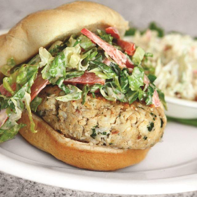 Crab Cake Burger - Johnny's Italian Steakhouse - Thornton, Thornton, CO