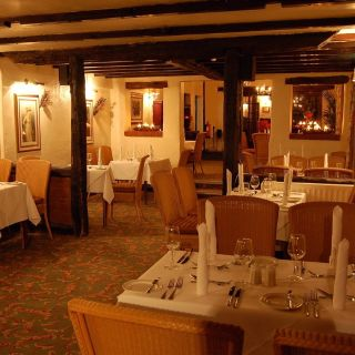 A photo of Courtyard Restaurant at Marston Farm Hotel restaurant