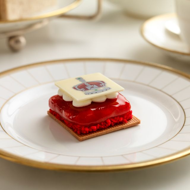 Rhubarb Biscuit - Afternoon Tea at Four Seasons Ten Trinity Square, London