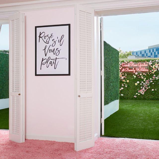 The Secret Rosé Garden at Beverly Wilshire, Beverly Hills, CA
