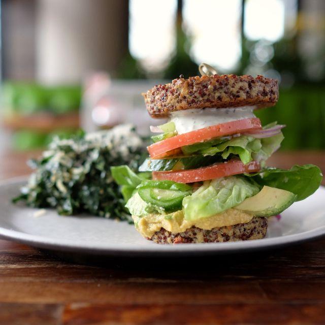 Inside out quinoa burger - True Food Kitchen - Arlington, Ballston Quarter, Arlington, VA