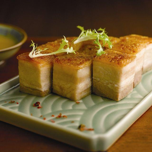 Crispy-skin Roasted Pork Belly With Mustard - Szechuan Kitchen - Fairmont Singapore, Singapore, -