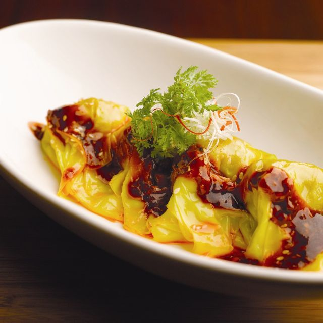 Wanton Tossed In Chilli Oil - Szechuan Kitchen - Fairmont Singapore, Singapore, -