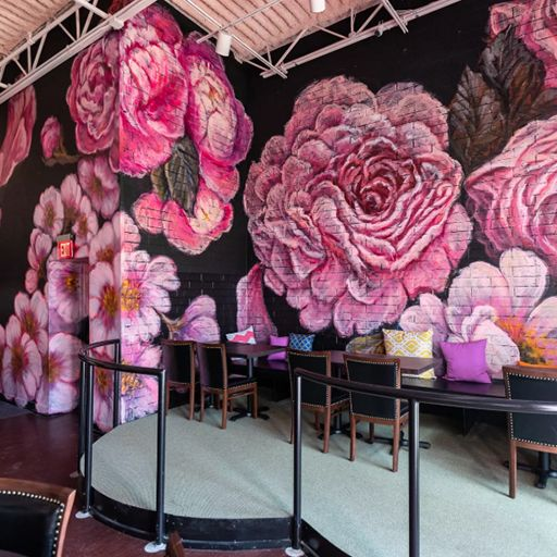 Pinkys--mural - Pinky's Rooftop - Royal Oak, Royal Oak, MI