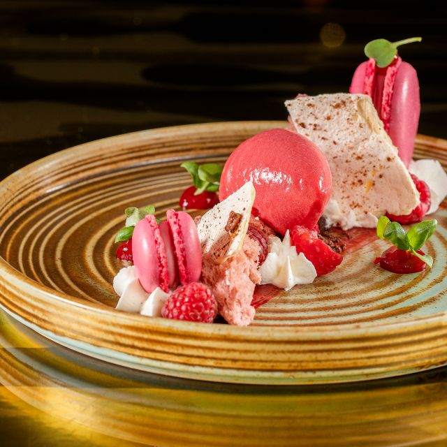 Raspberry Textures - Sanderson, London
