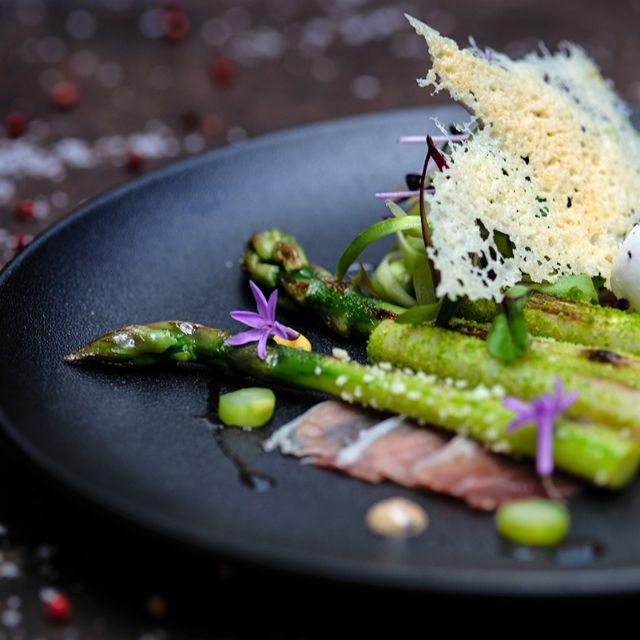 Blue Boar Restaurant- English Asparagus - Blue Boar, London