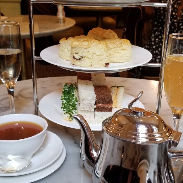 afternoon tea at hotel deluxe restaurant portland or