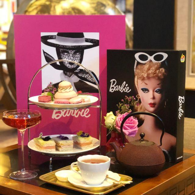Barbie afternoon tea - Swans Bar at Maison Assouline, London