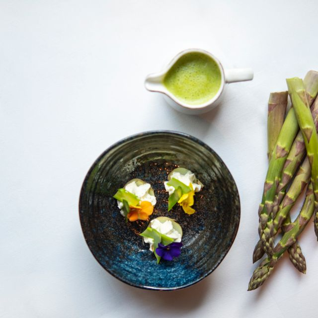 Green Asparagus Soup - The Montagu Kitchen at Hyatt Regency London - The Churchill, London