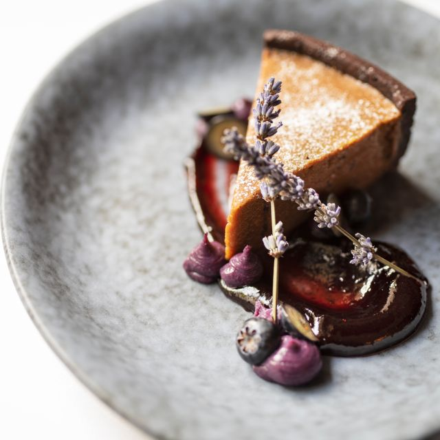Dark Chocolate Gipsy Tart - The Montagu Kitchen at Hyatt Regency London - The Churchill, London