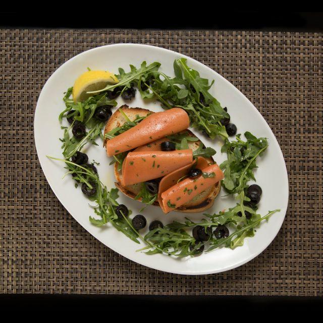 Vegan Salmon Toast - Novapizza Vegetarian Kitchen, Edinburgh