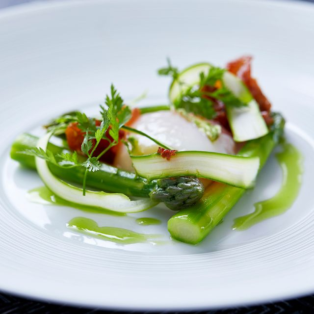 Isle Of Wight Asparagus - Indigo at One Aldwych, London