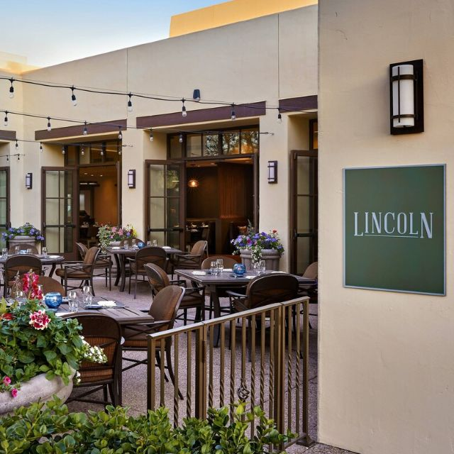 Lincoln Front Patio - Lincoln Steakhouse and Bar 1936 - JW Marriott Camelback Inn, Paradise Valley, AZ