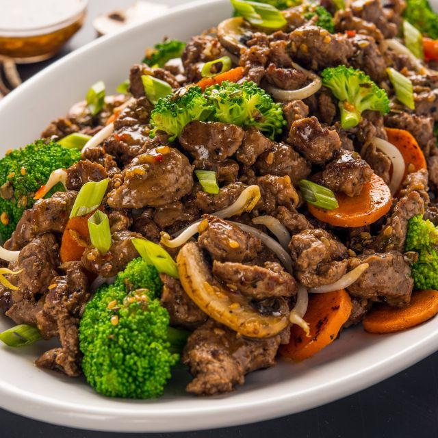 Mongolian Beef - bd's Mongolian Grill - Ann Arbor, Ann Arbor, MI
