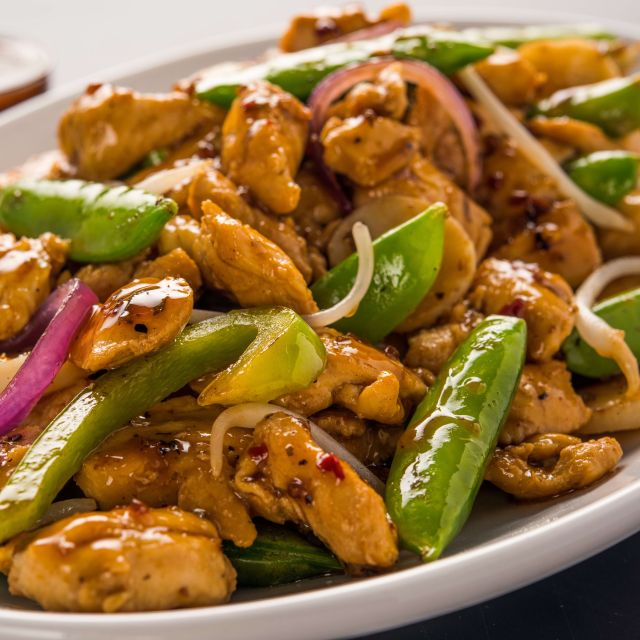 Kung Pao Chicken - bd's Mongolian Grill - Ann Arbor, Ann Arbor, MI