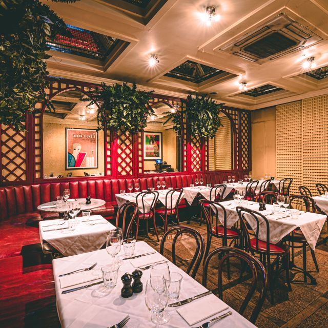 Interiors & Mw Burgers June  S- - Palm Court Brasserie, London