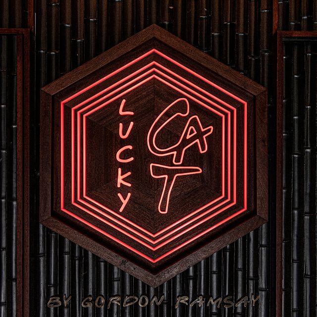 Lucky Cat Neon Sign Px - Lucky Cat by Gordon Ramsay, London