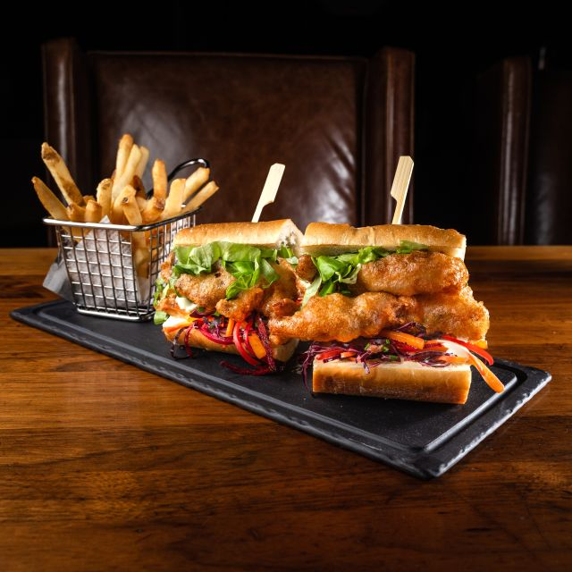 Po Boy - YEW seafood + bar - Four Seasons Hotel - Vancouver, Vancouver, BC