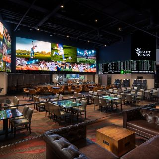 A photo of DraftKings Sportsbook at del Lago restaurant