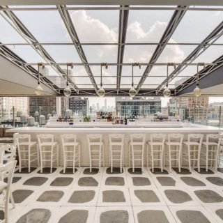 A photo of Mykonos Bleu Restaurant and Rooftop restaurant