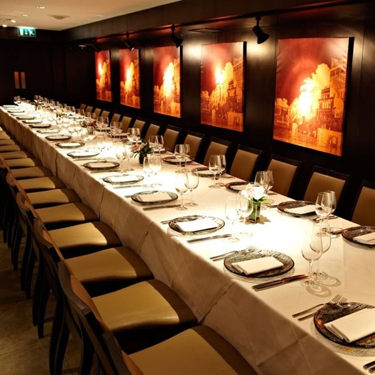 Deco Salon Gris Rose Blanc benares restaurant - london, | opentable